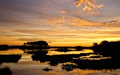 Sunrise over Chincoteague Island